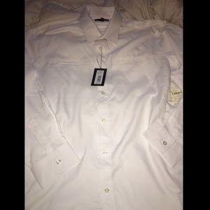 Murano White Dress Shirt Double Hidden Pockets
